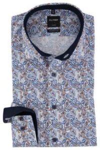 olymp-overhemd-blauw-paisley-modern-fit