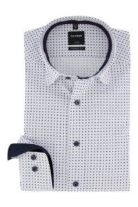 olymp-overhemd-mouwlengte-7-wit-printje